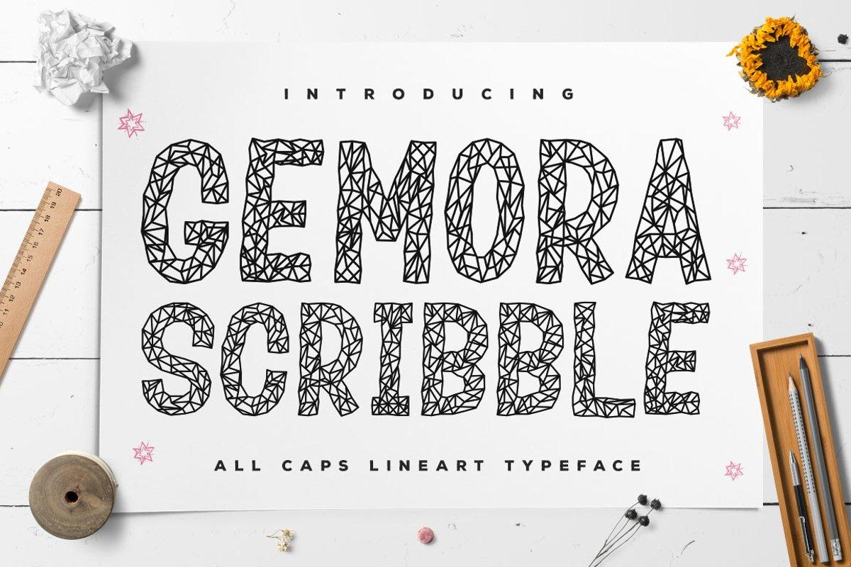 Gemora Scribble - Unique Display Font example image 1