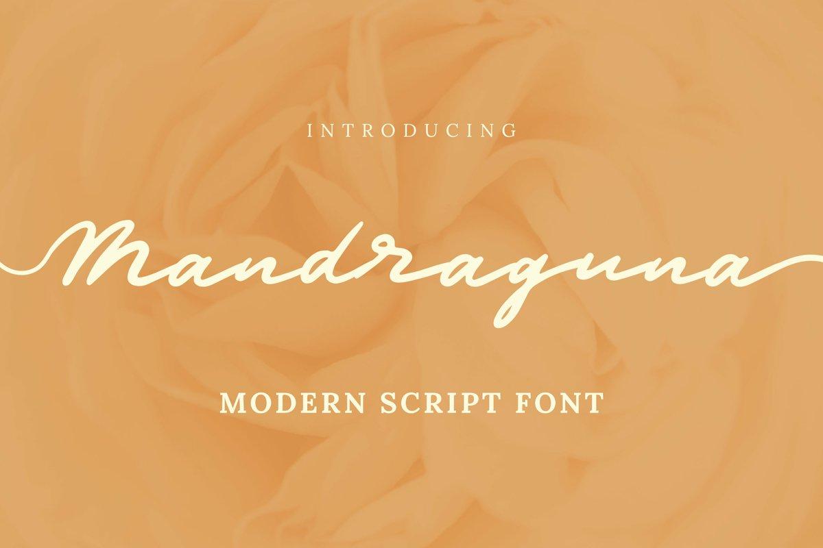 Mandraguna Font example image 1