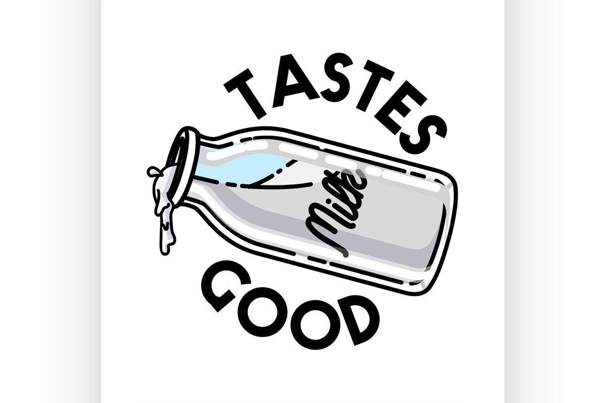 Color vintage milk emblem example image 1