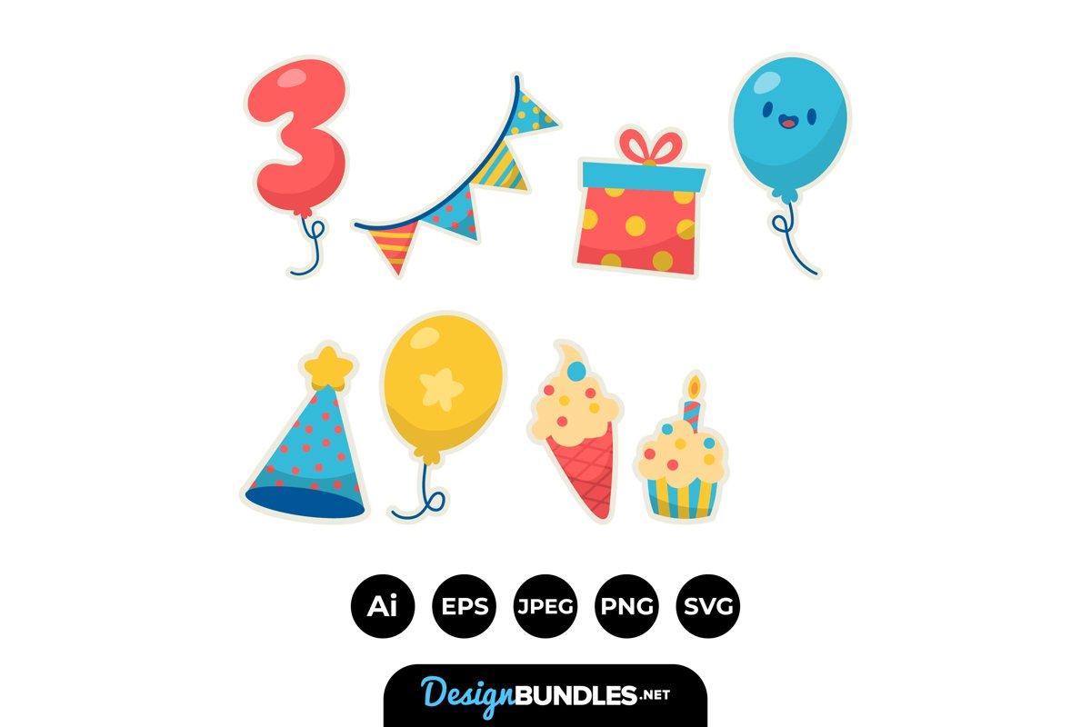 Colorful Birthday Scrapbook example image 1