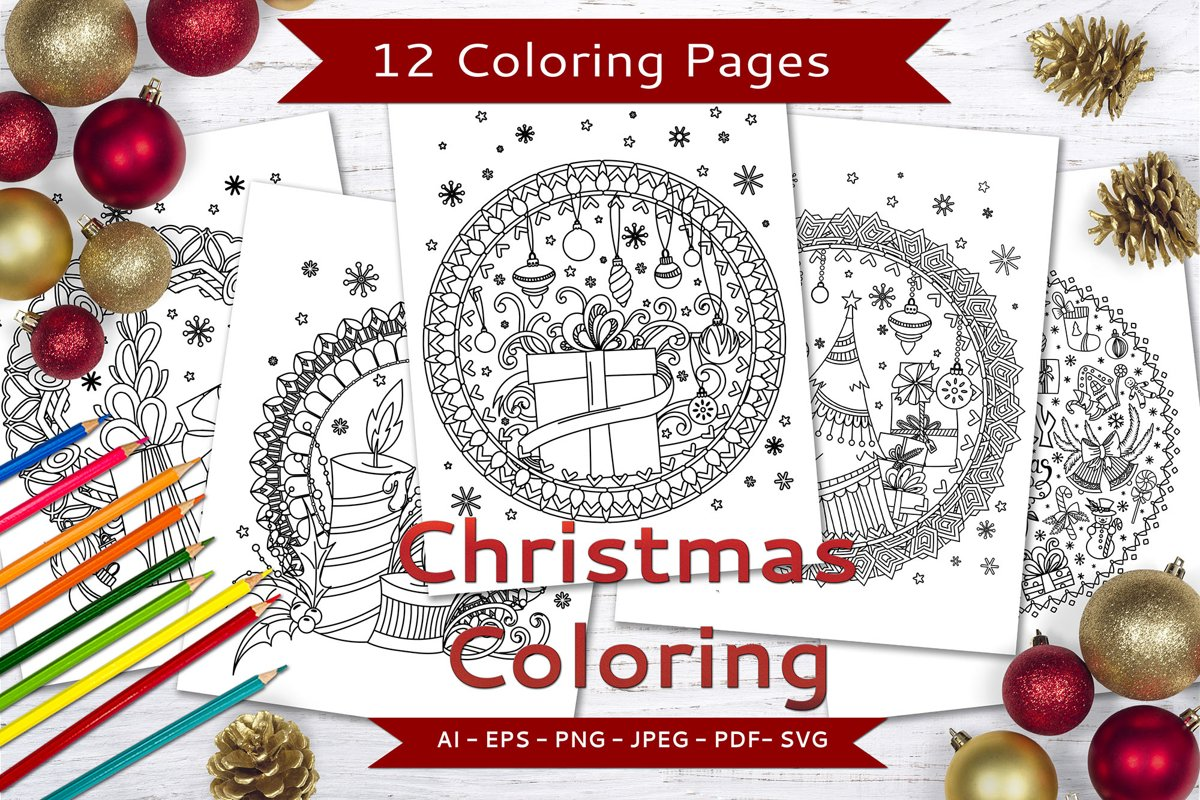 Christmas Coloring Pages example image 1
