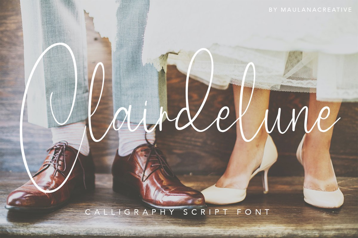 Clairdelune Calligraphy Modern Script Brush Font example image 1
