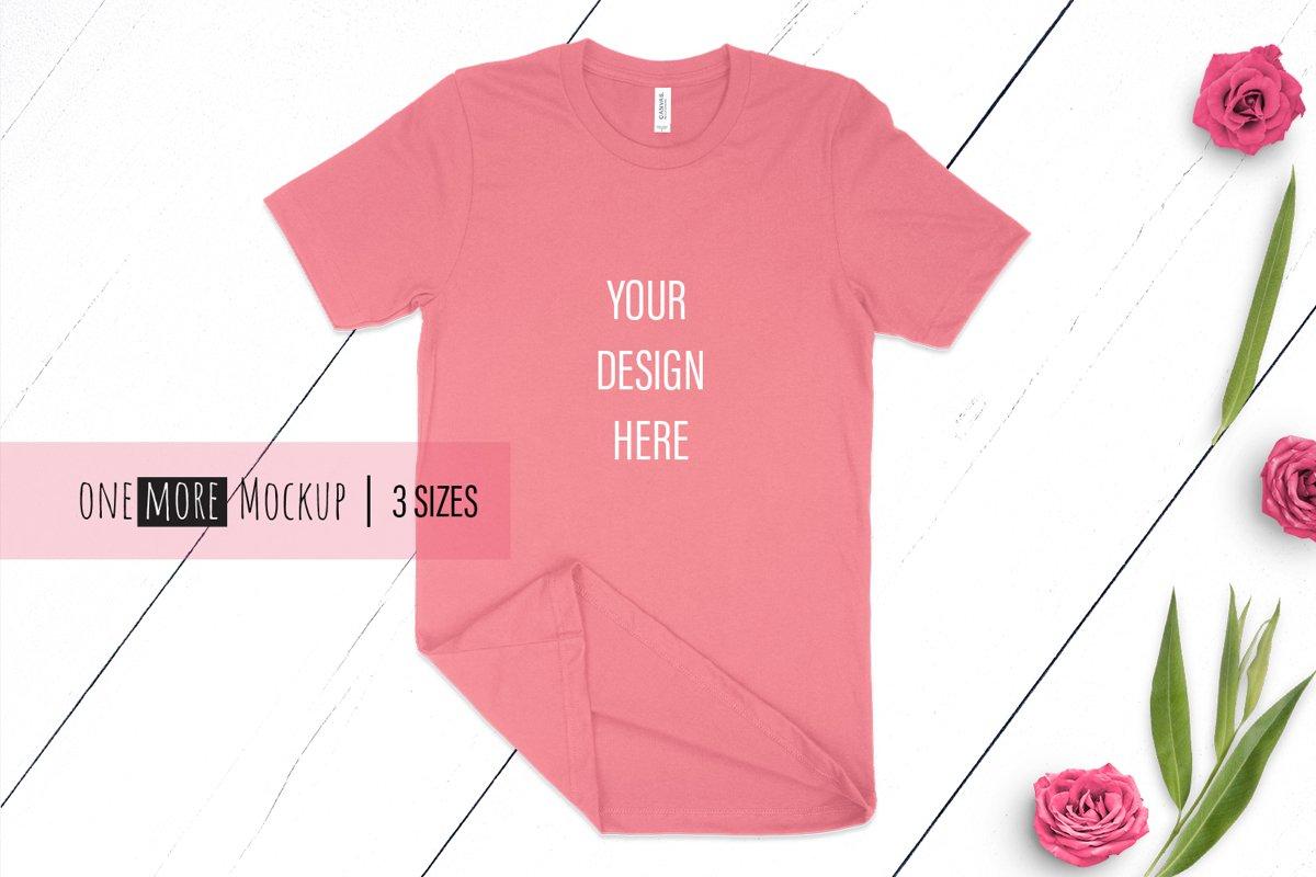 Summer Tshirt Mockup | Bella Canvas 3001 Mauve example image 1