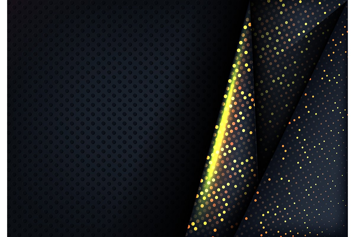 Modern dark and gold background example image 1