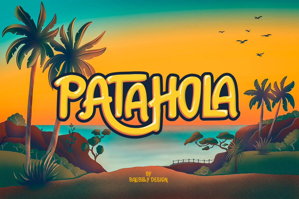 Patahola - Playful Display Font example image 1