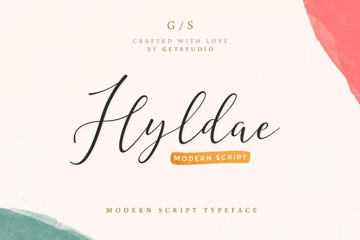 Hyldae Script Font example image 1