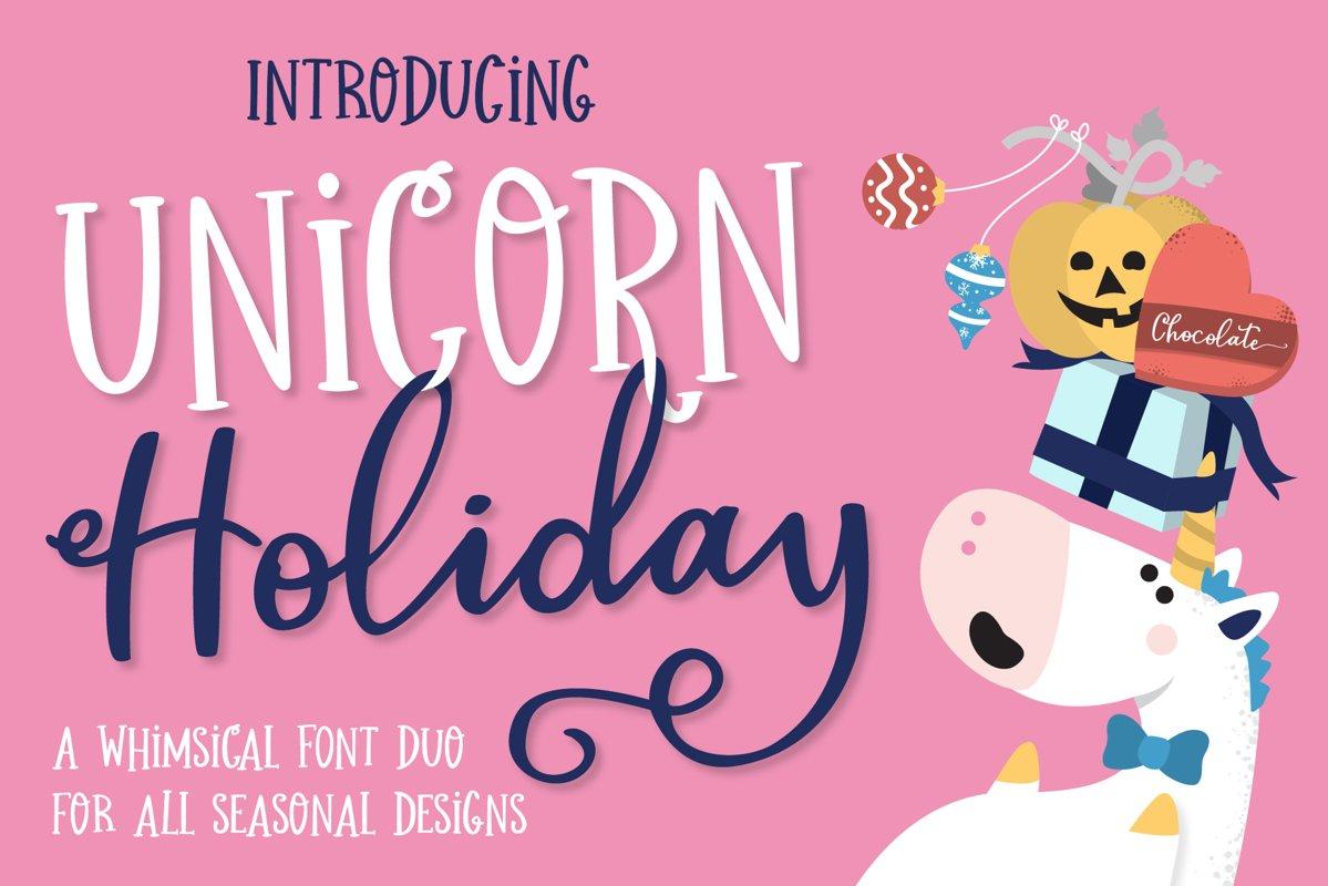 Unicorn Holiday Font Duo example image 1