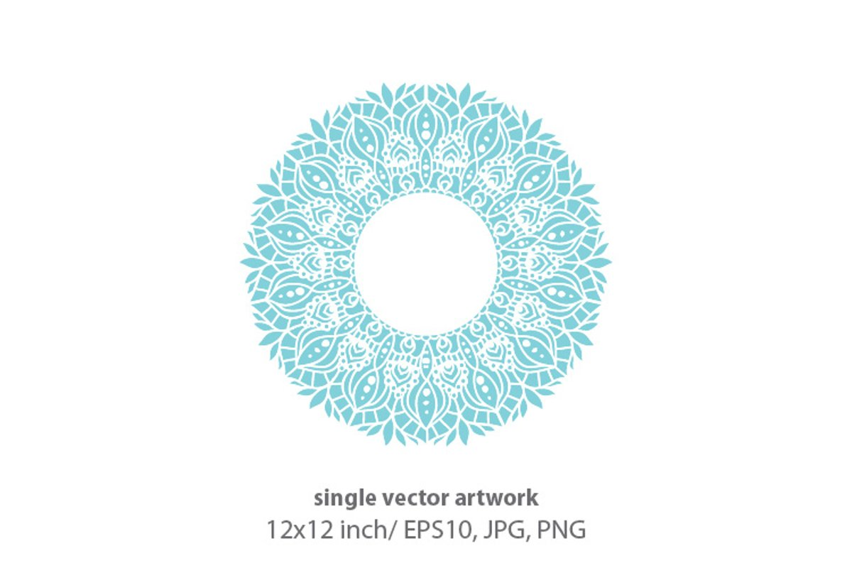 Mandala - single vector artwork example image 1