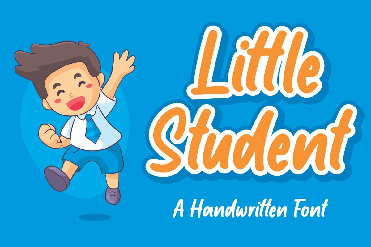 Little Student / Handwritten Font example image 1