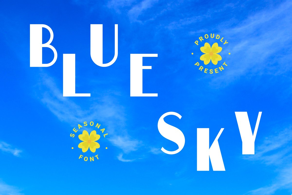 Blue Sky Font example image 1