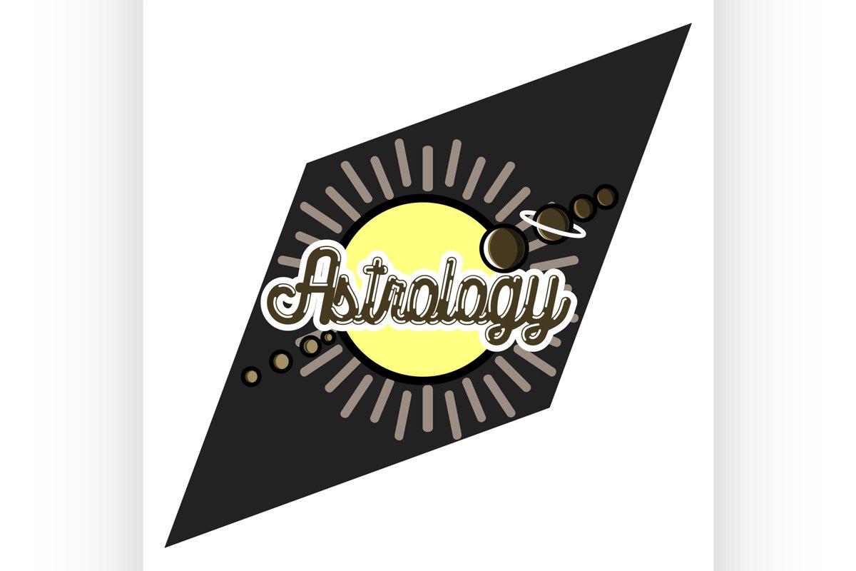 Color vintage astrology emblem example image 1
