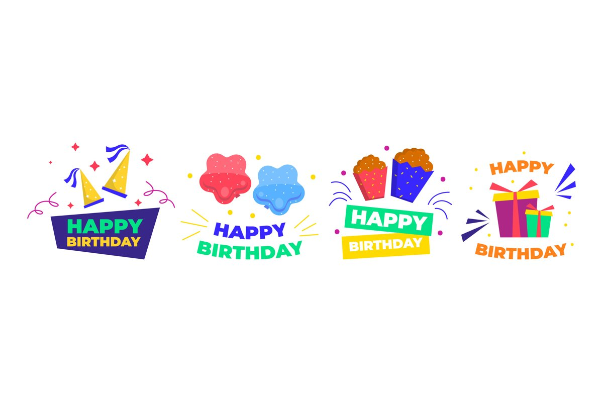 Happy Birthday Illustrations example image 1