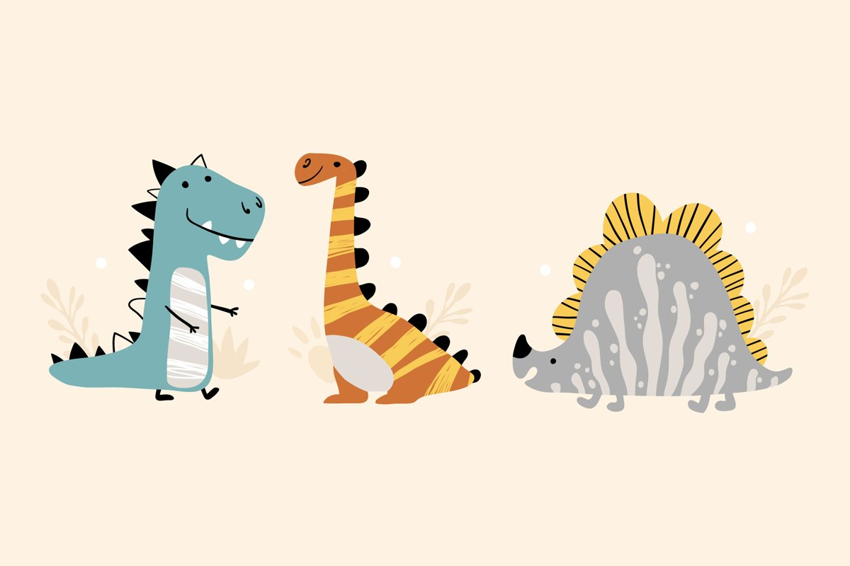 Dinosaurs Illustrations example image 1