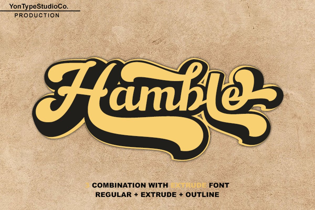 Hamble font example image 1