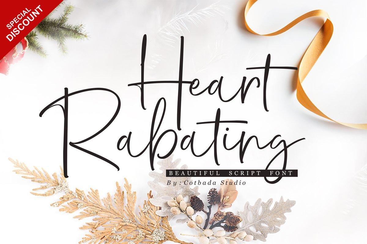Heart Rabating Font Script example image 1
