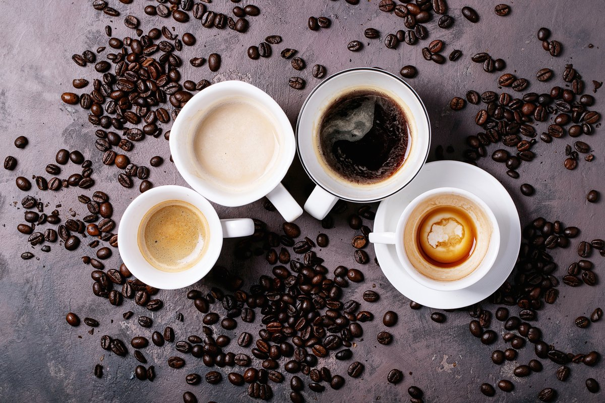 Fresh coffee in cups example image 1