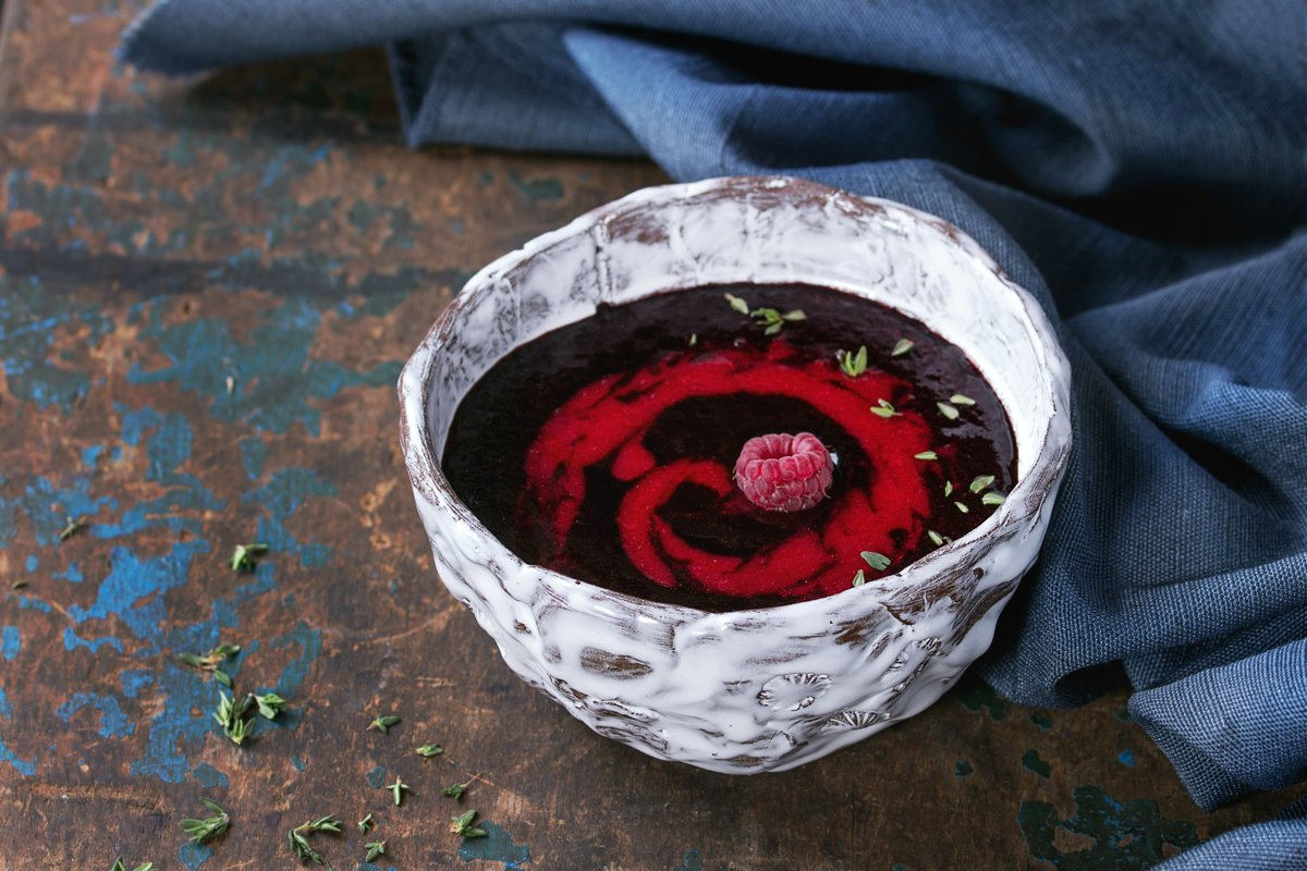 Dessert berry soup example image 1