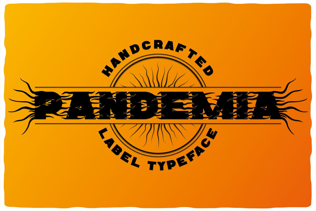 Pandemia typeface example image 1