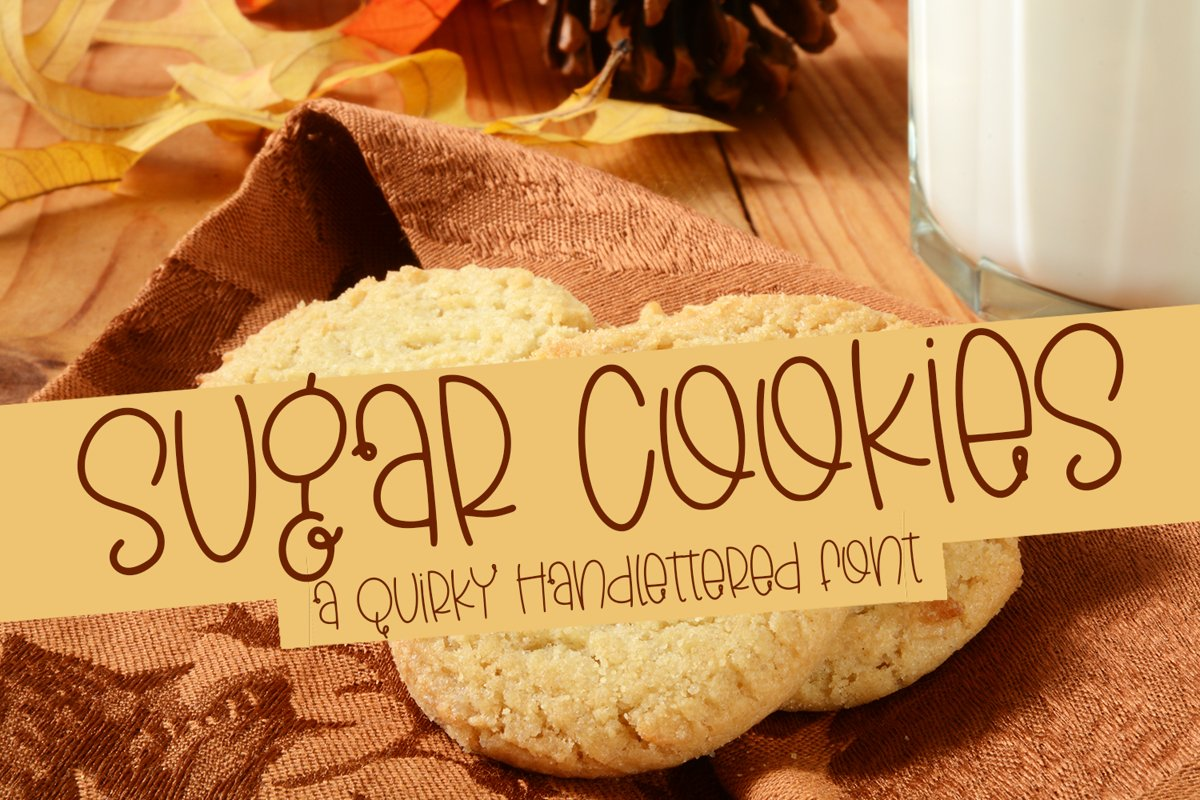 Sugar Cookies - A Quirky Hand-Lettered Font example image 1