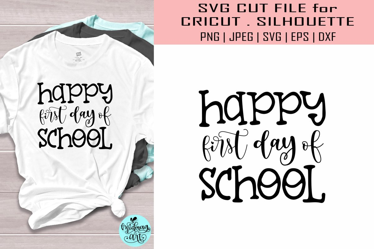 Happy first day of school svg, teacher svg example image 1