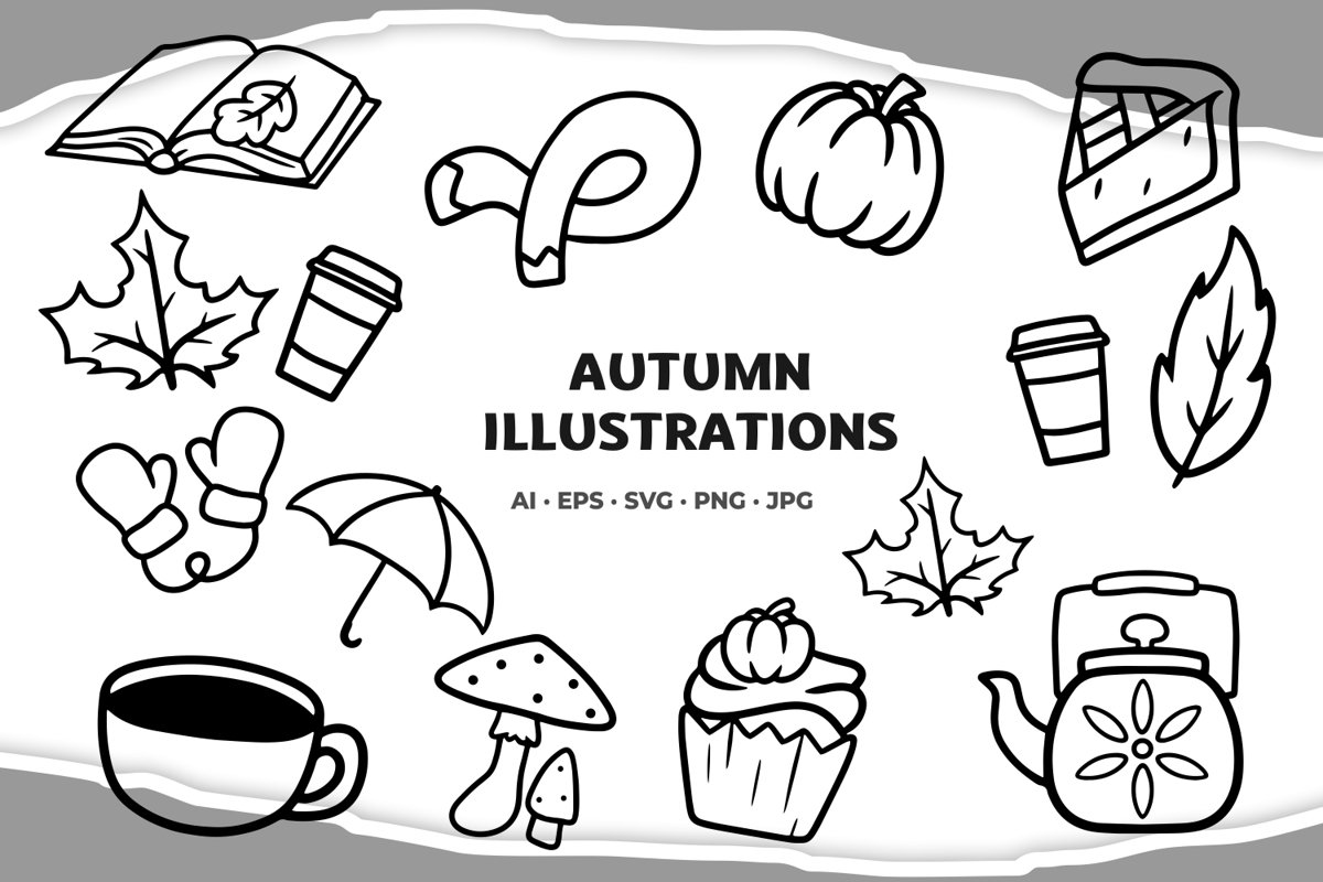 Autumn illustrations example image 1