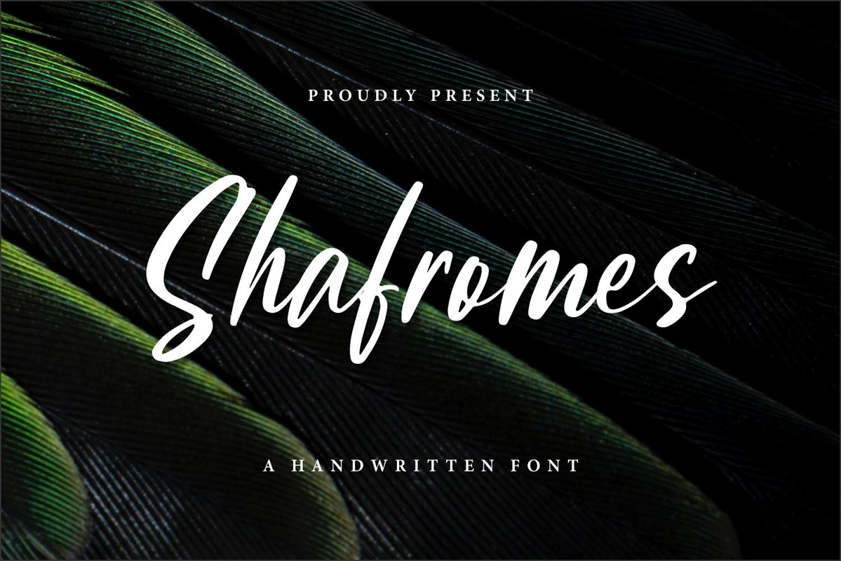 Shafromes - Handwritten Font example image 1