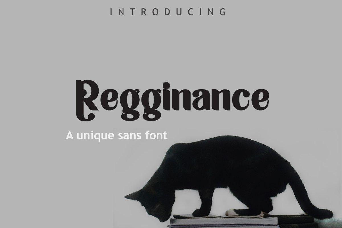 Regginance Font example image 1