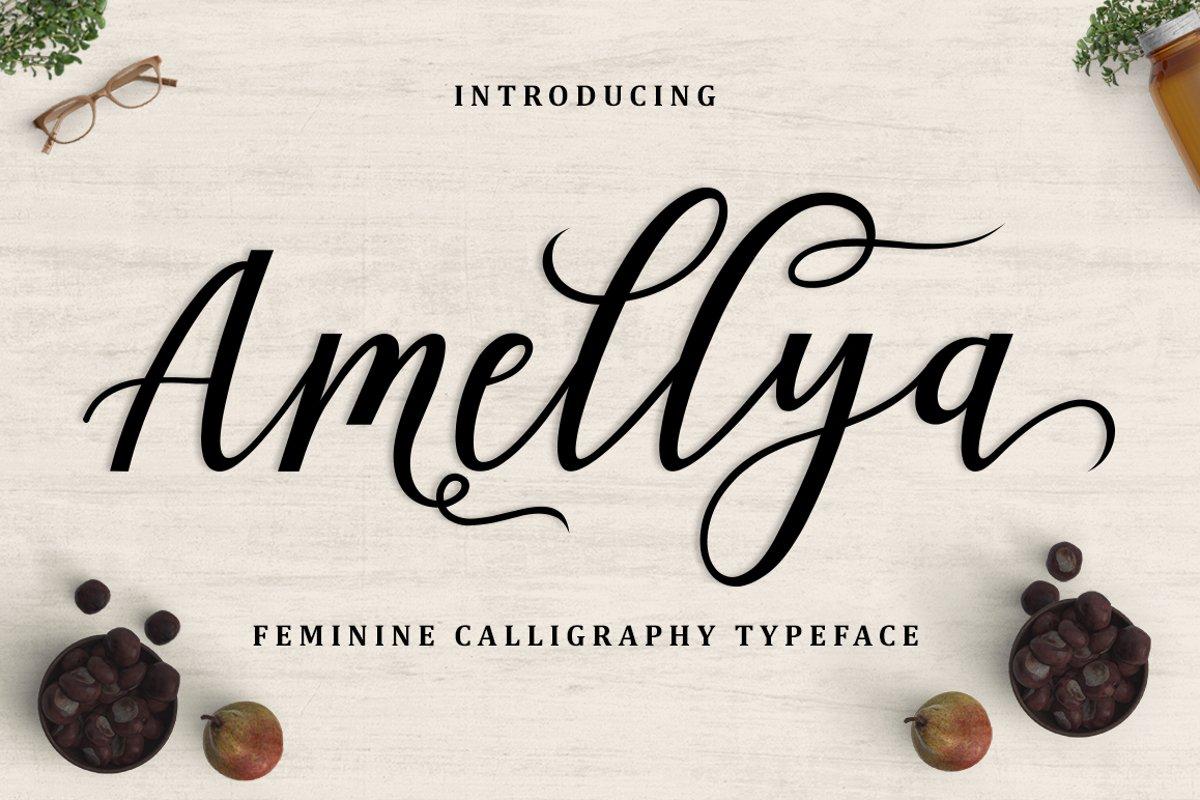 Amellya Script example image 1