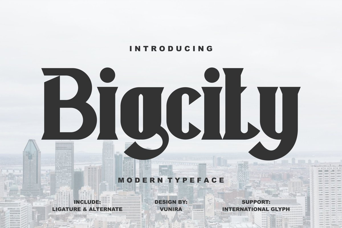 Bigcity | Modern Typeface Font example image 1
