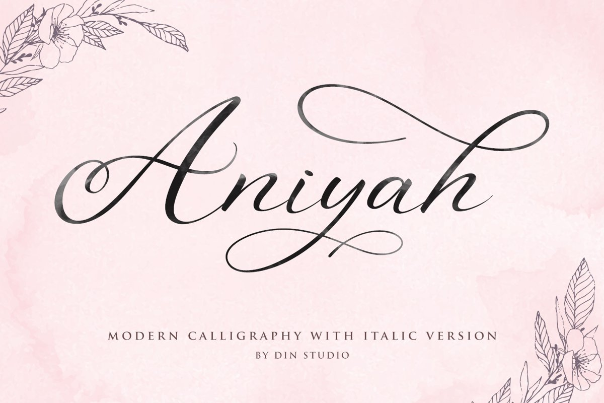 Aniyah Script - Beautiful Calligraphy example image 1