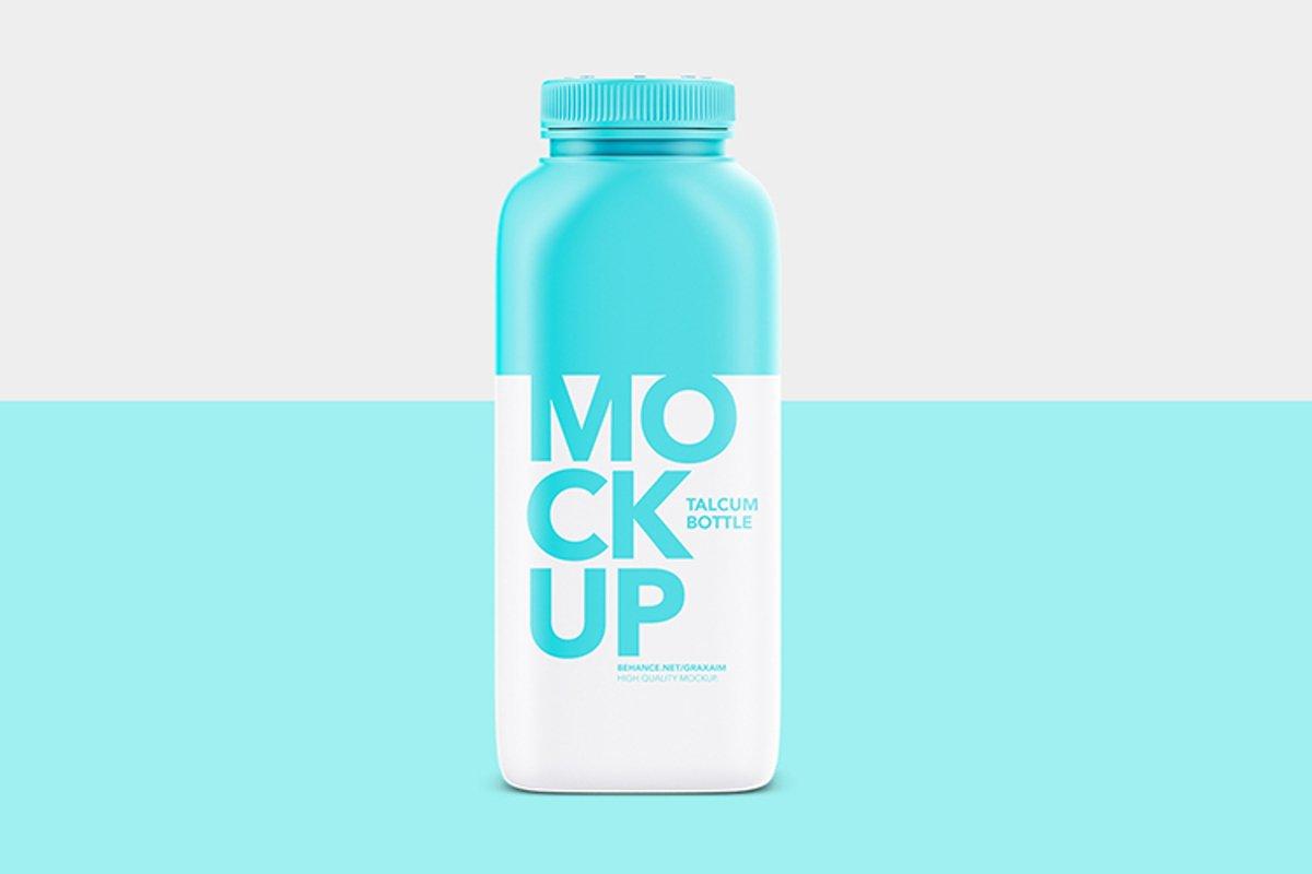 Talcum Plastic Bottle - Mockup example image 1