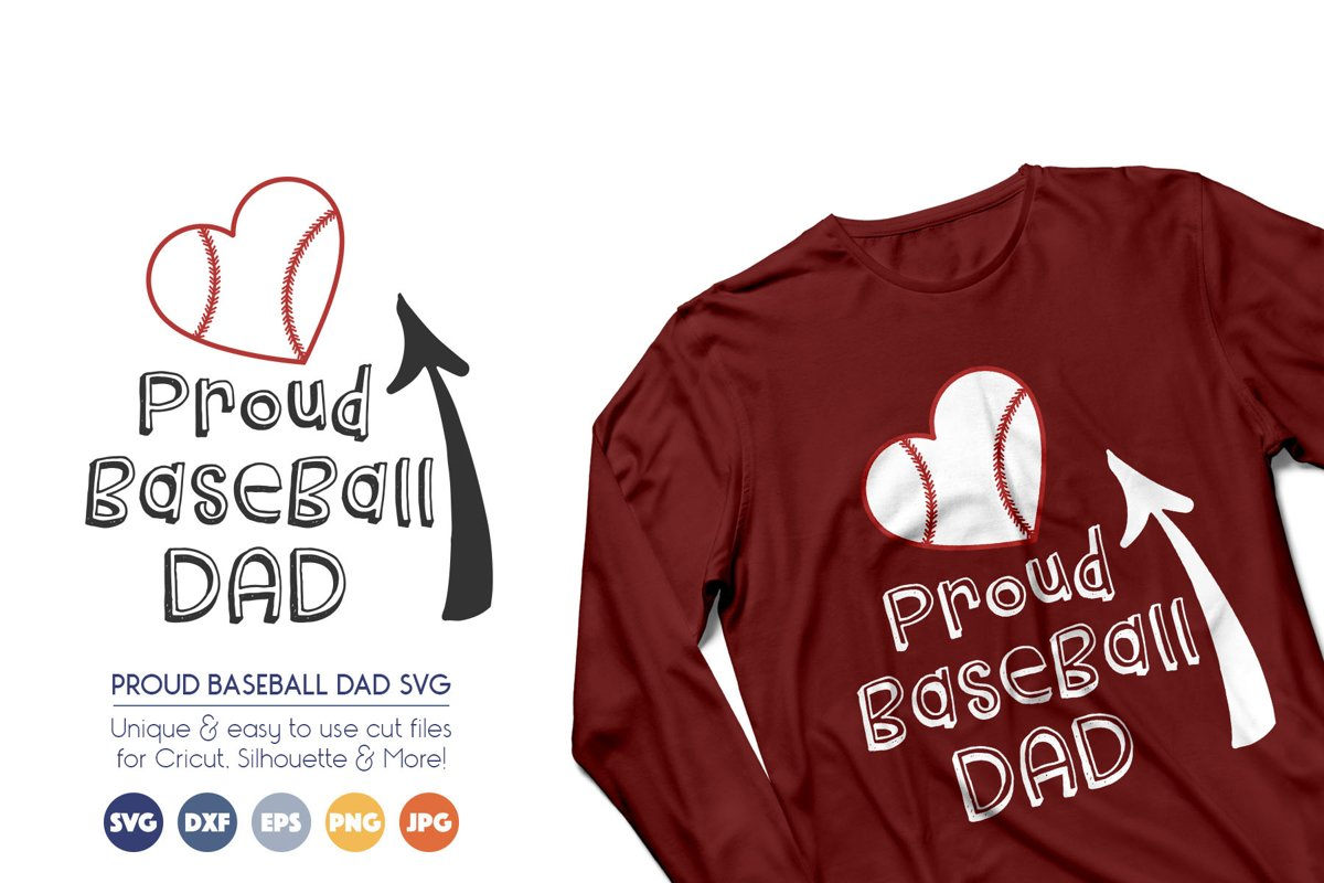 Proud Baseball Dad - Sports Cheer SVG Files example image 1