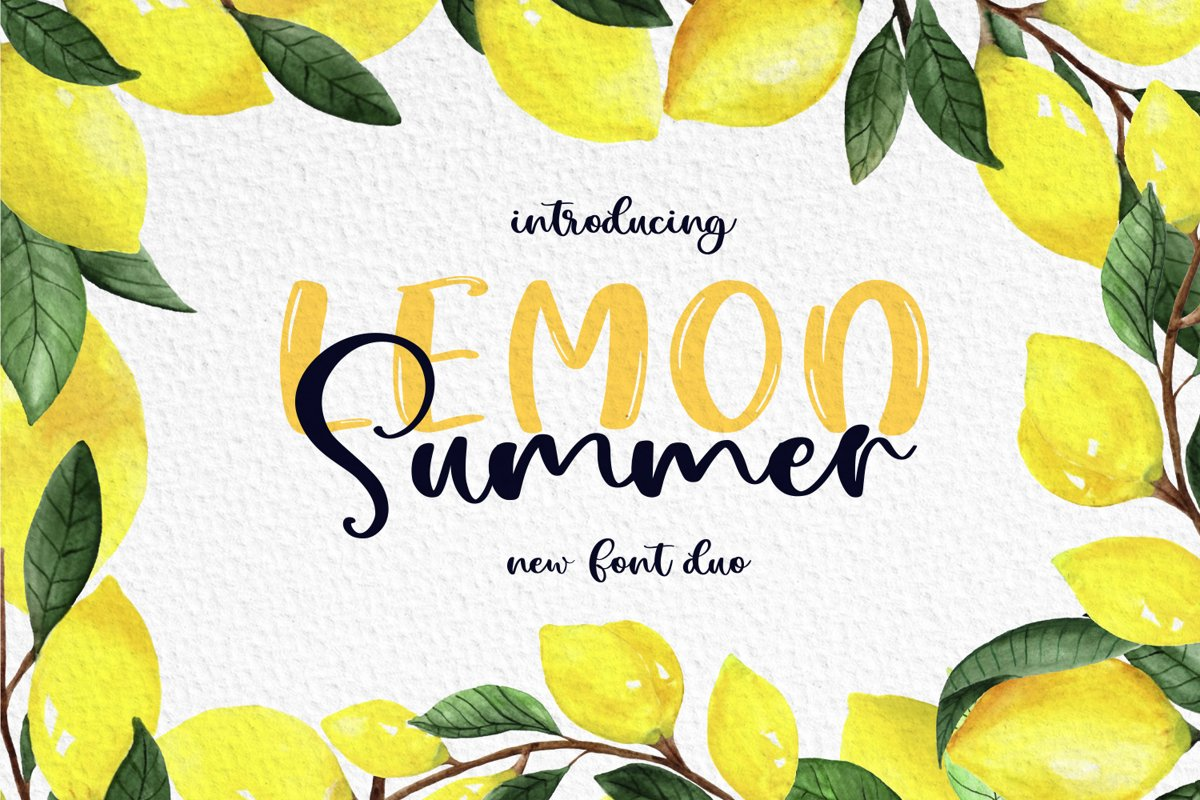 Lemon Summer Font Duo example image 1