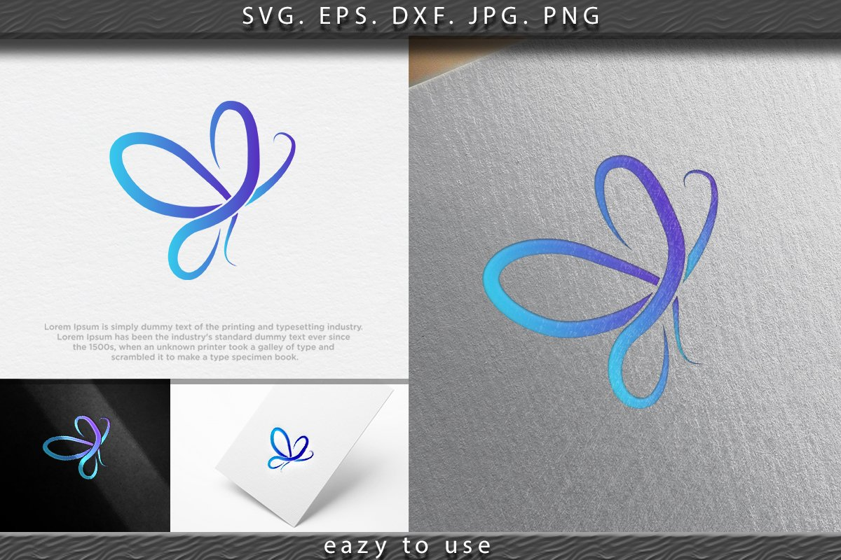 Beauty Butterfly logo Ideas. Inspiration logo design. Templa example image 1