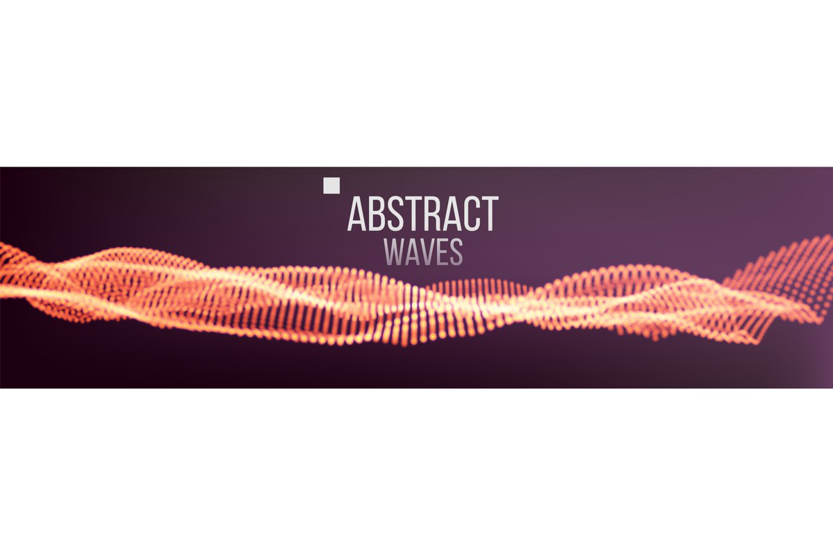 Music Waves Abstract Sound Background Vector. Dot Particle example image 1