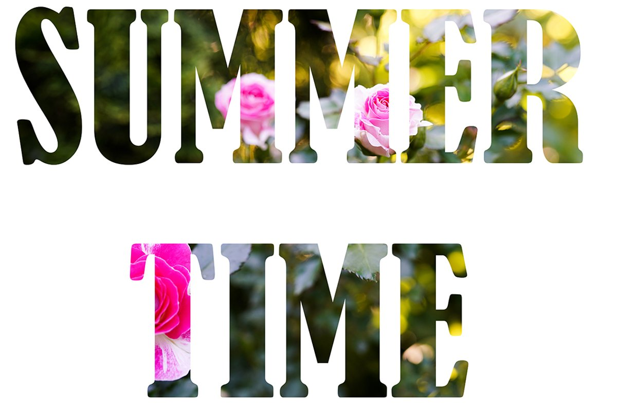 Alphabet SUMMER TIME made of Real alive yellow flowers example image 1