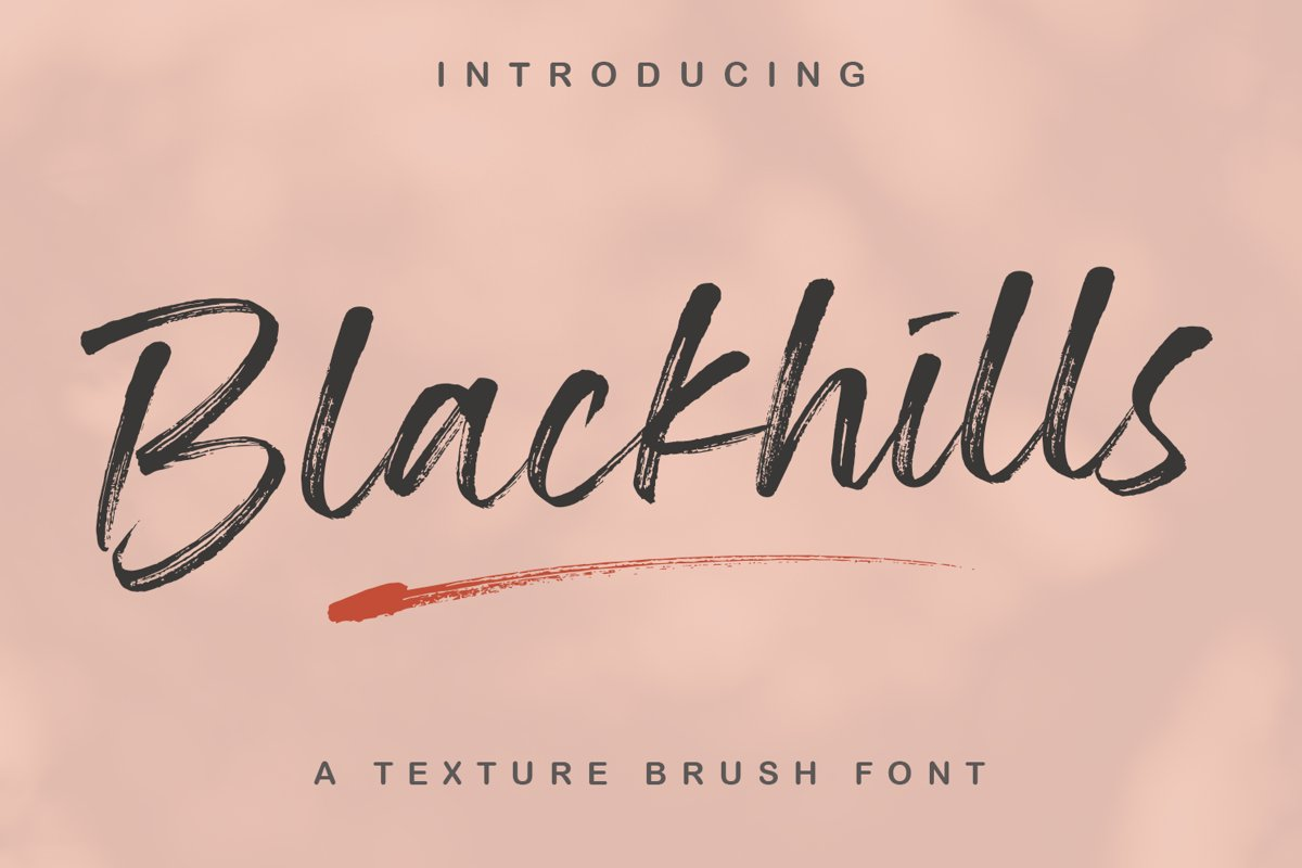 Blackhills - Brush Fonts example image 1