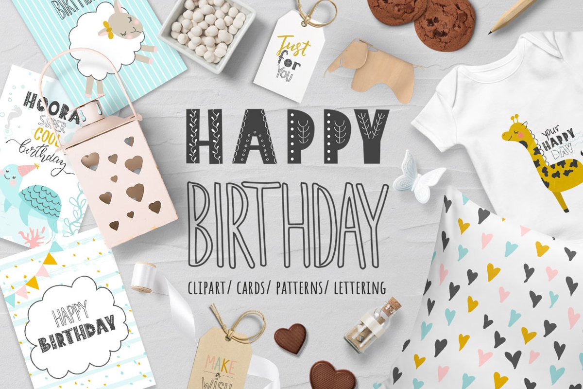 Happy Birthday Cute collection example image 1