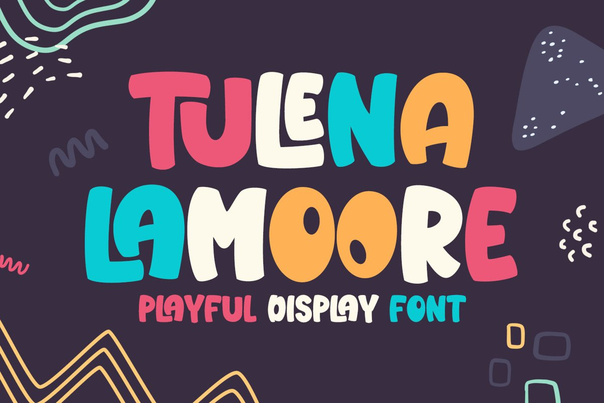 Tulena Lamoore - Playful Display Font example image 1