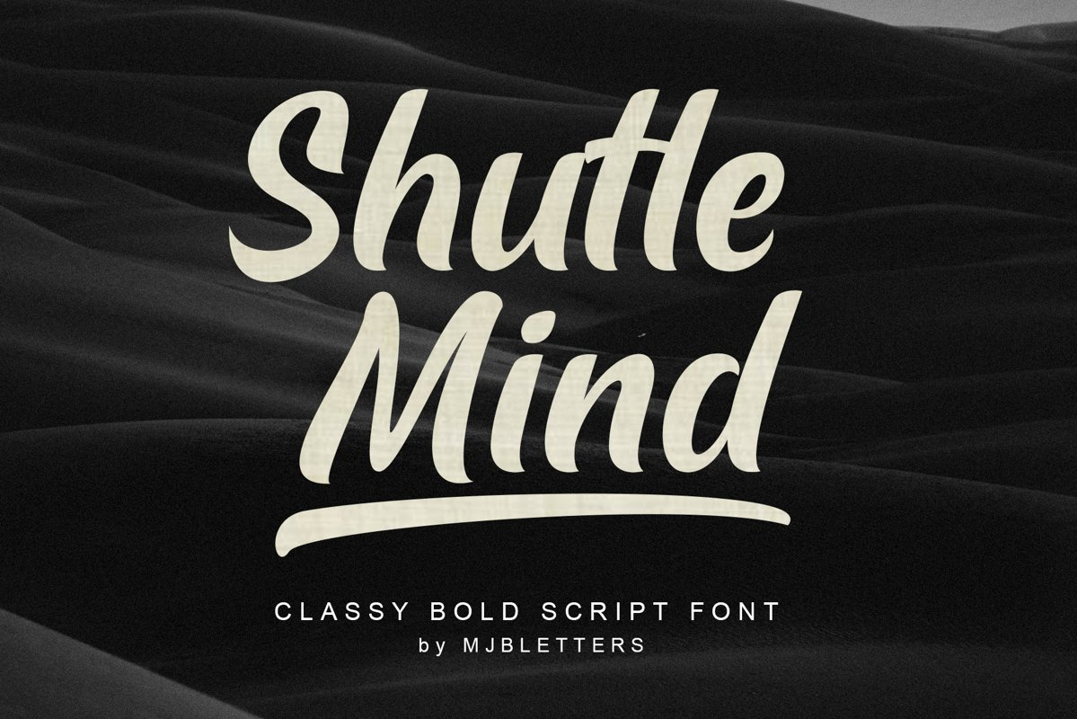 Shutle Mind - Classy Bold Script example image 1
