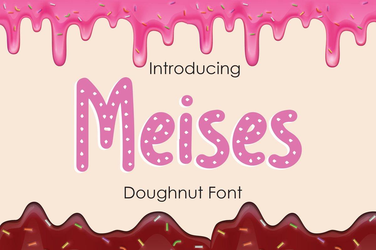 Meises - Doughnut Font example image 1