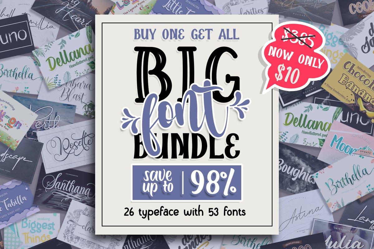 Buy One Get All| BIG FONT BUNDLE example image 1