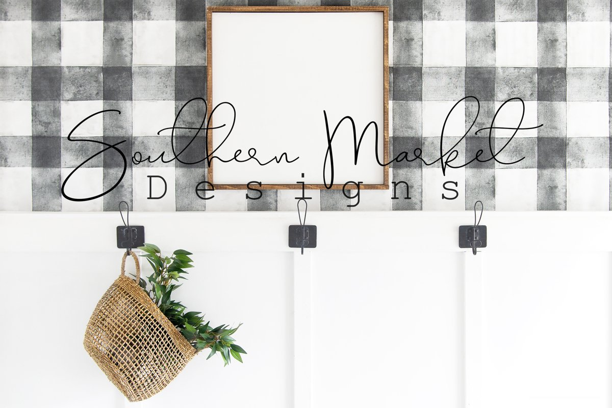 24x24 Real Wood Sign Mock Up | Wood pallet Sign Flat Lay | example image 1