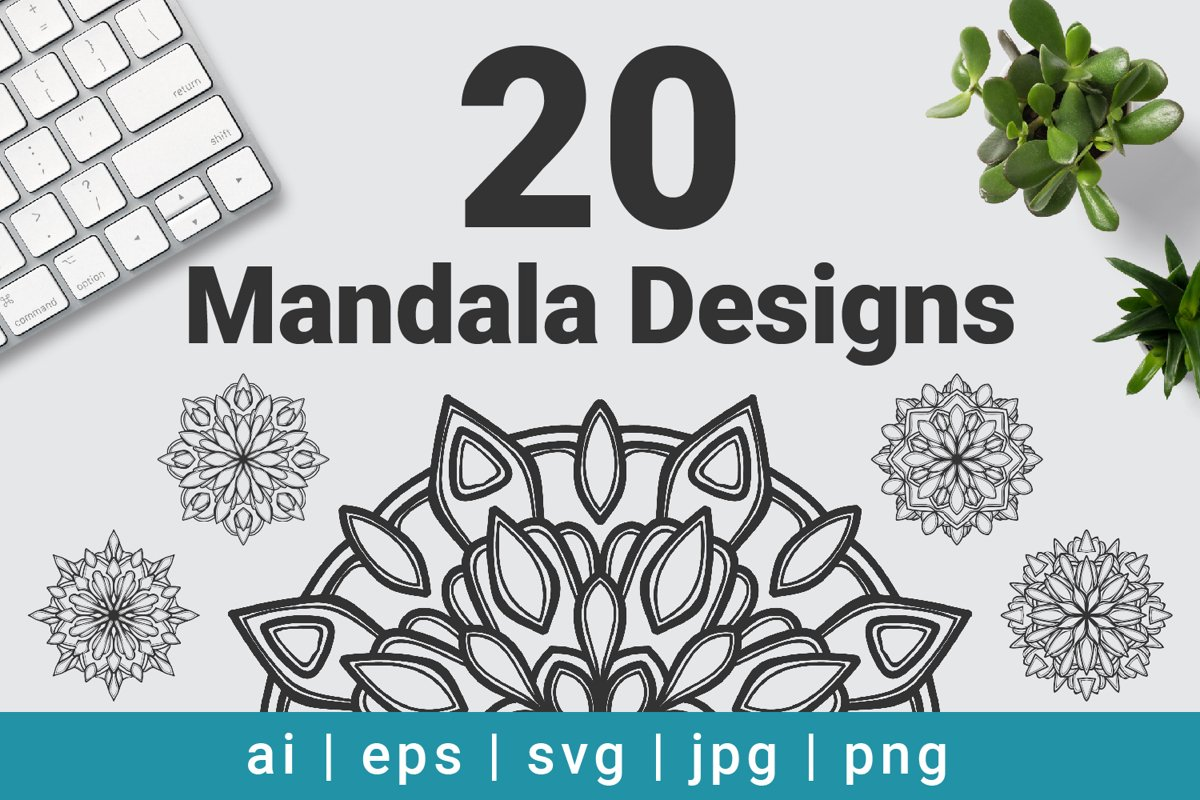 Mandala Designs Bundle Vector example image 1