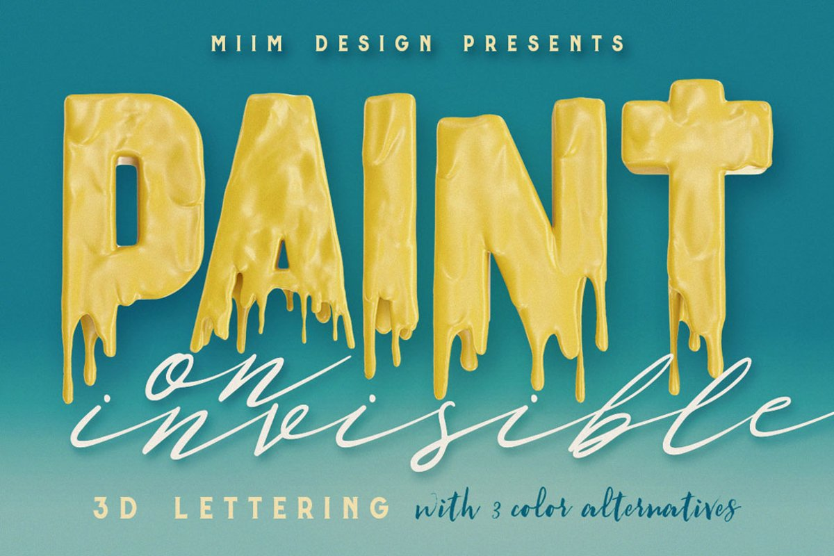 Painting On Invisible - 3D Lettering example image 1