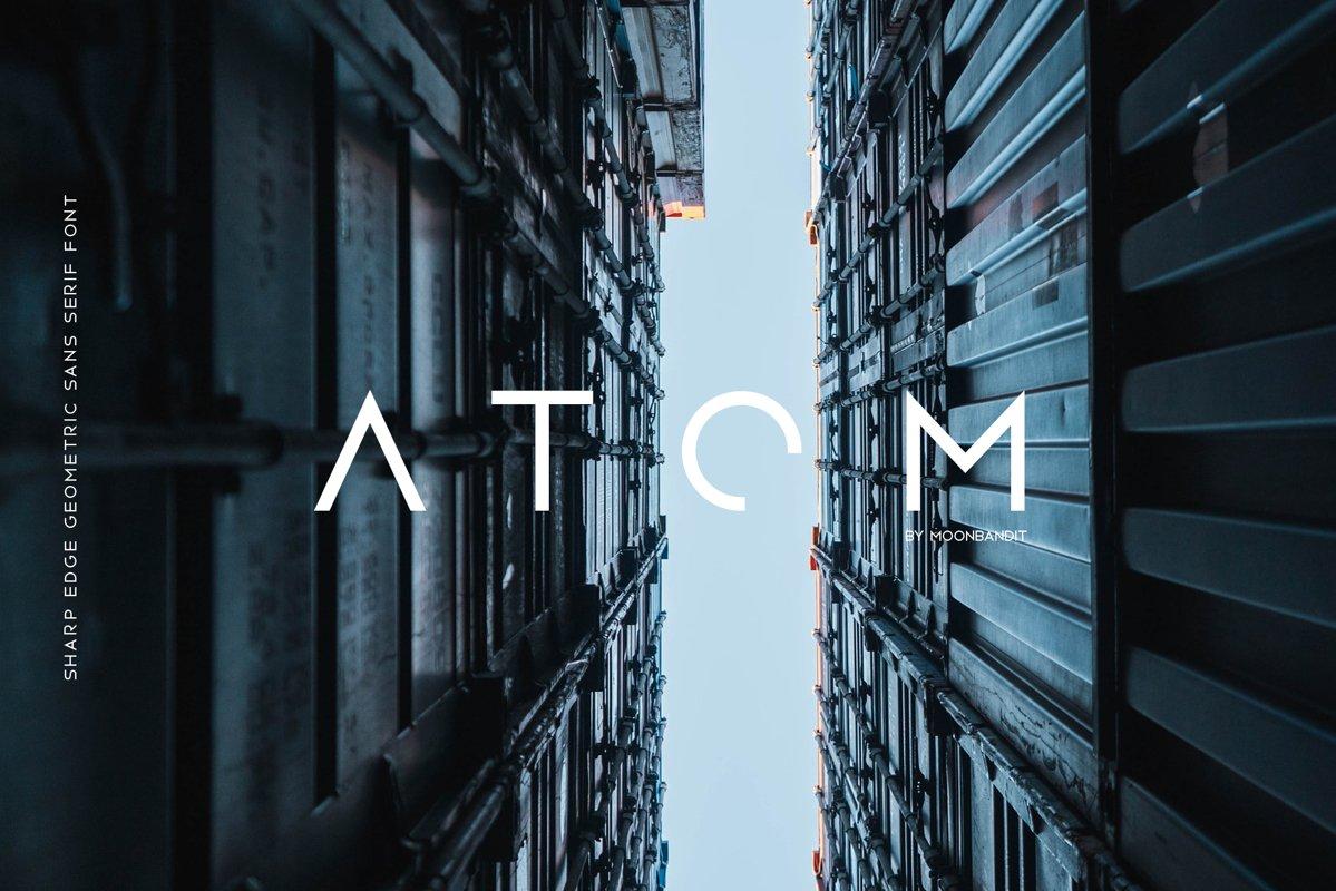 Atom - Sharp edge Future Scifi font example image 1