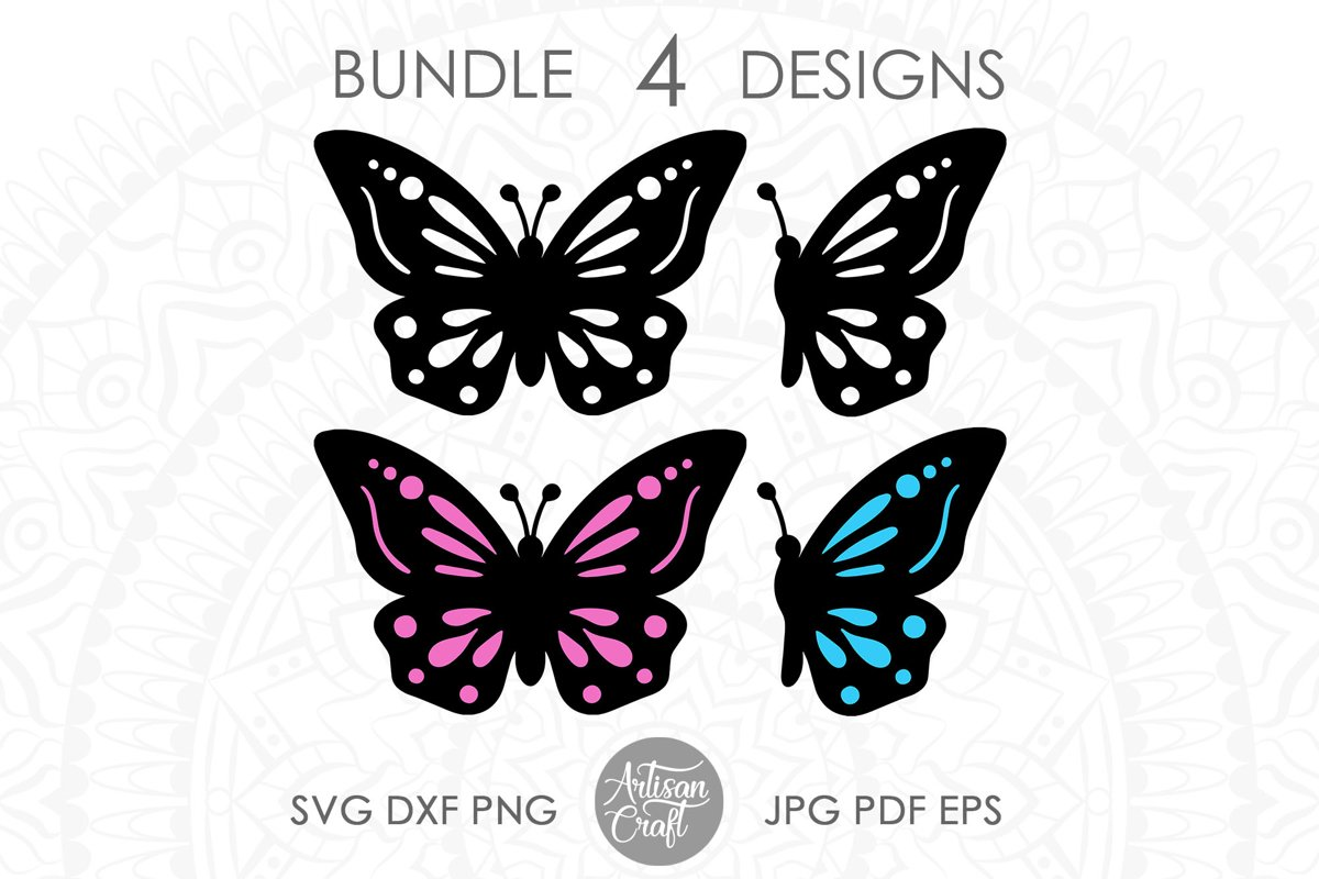 Butterfly clipart, butterfly SVG, cut files, layered svg example image 1