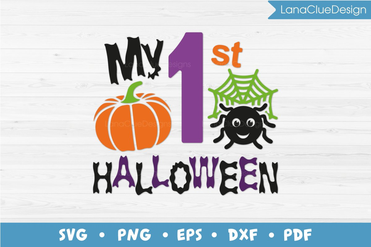 My 1st Halloween SVG Cut File example image 1