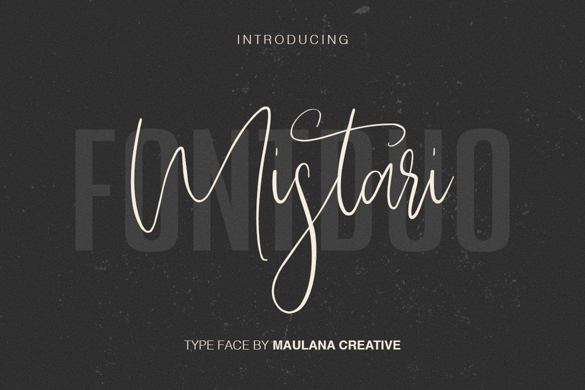 Mistari Typeface - Script And Sans example image 1