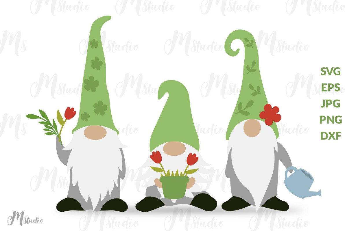Spring Gnomes Svg. example image 1